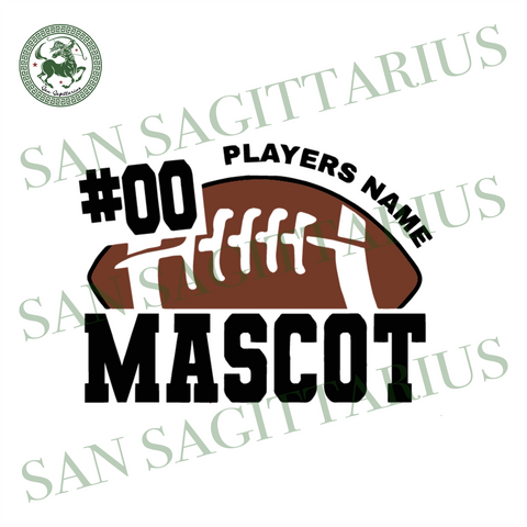 00 Player Name Mascot Svg, Sport Svg, Football Svg, Rugby Ball Vector, Football Players Name, Football Mascot Svg, Football Fans Shirt, Football Logo Design, Football Mom Shirt, Sport Shirt ,