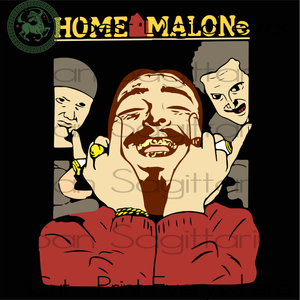 Home malone  SVG Files For Cricut Silhouette Instant Download