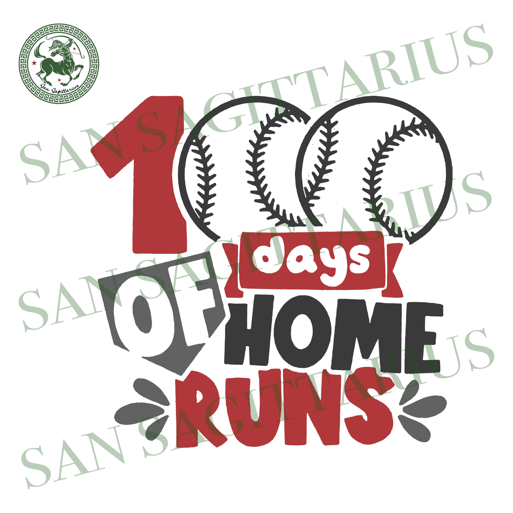 100 Days Of Home Runs,Happy 100th Day Of School, Back To School Svg, 100th Day Of School Svg,Happy 100th Day Of School Svg,Back To School,Baseball Svg, Baseball Lover,Love Baseball, 100th Day