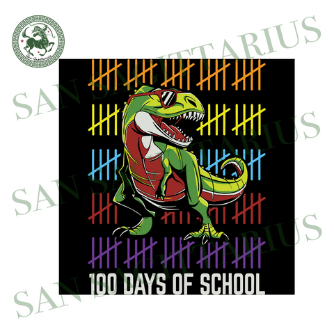 100 Days Of School, Dinosaur Svg,Dinosaur Gift, Dinosaur Days Of School,100th Day Of School Svg, 100 Days Of School, Back To School Svg, 100th Day Of School 2020, 100th Day Of School Clipart
