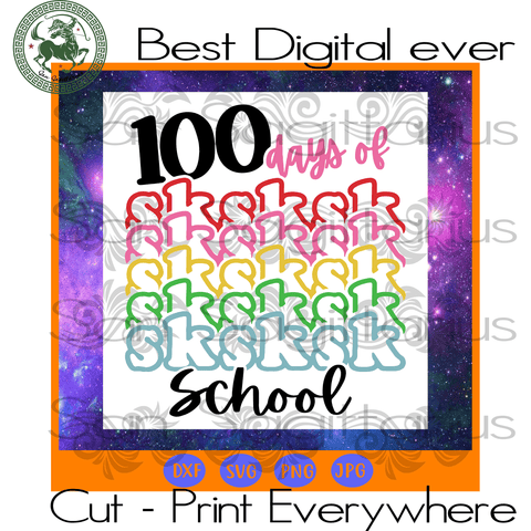 100 Days Of Sksksk School Teachers,  preschool gift, preschool svg, back to school, preschool teacher, gift for teacher, preschool learning, teacher gift ideas, gift for kids, leaving school,