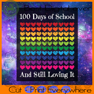 Happy 100th Day Of School, 100 Days Of School Svg, 100th Day Of School Svg, 100th Day Of School Shirt, 100th Day Of School Svg, 100 Days Of School, Back To School Svg, Kindergarten Gifts Svg,