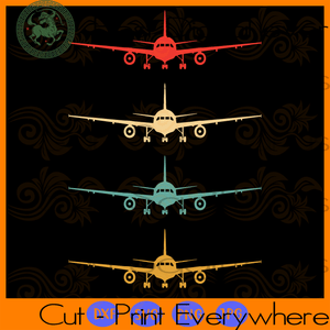 Aviation flying airline SVG Files For Silhouette, Cricut Files, SVG DXF EPS PNG Instant Download