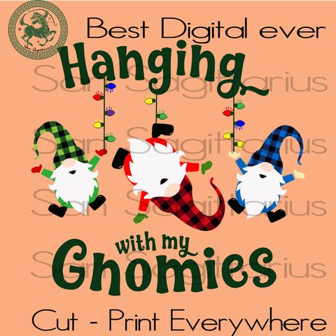 Hanging With My Gnomies, Gnomies Svg, Gnome Svg, Christmas Svg, Xmas Svg, Christmas Gifts, Christmas Gnomes, Santa Hat Svg, Christmas Santa Svg, Merry Christmas, Holiday Gnomes Svg, Red Hat S