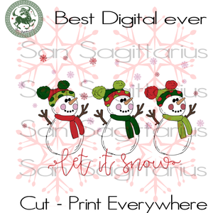Let It Snow, Snowman Svg, Christmas Snowmen, Christmas Svg, Merry Christmas, Christmas Holiday, Christmas Party, Ugly Christmas, Christmas Snowflakes, Snowmen Drink Wine, Happy Christmas