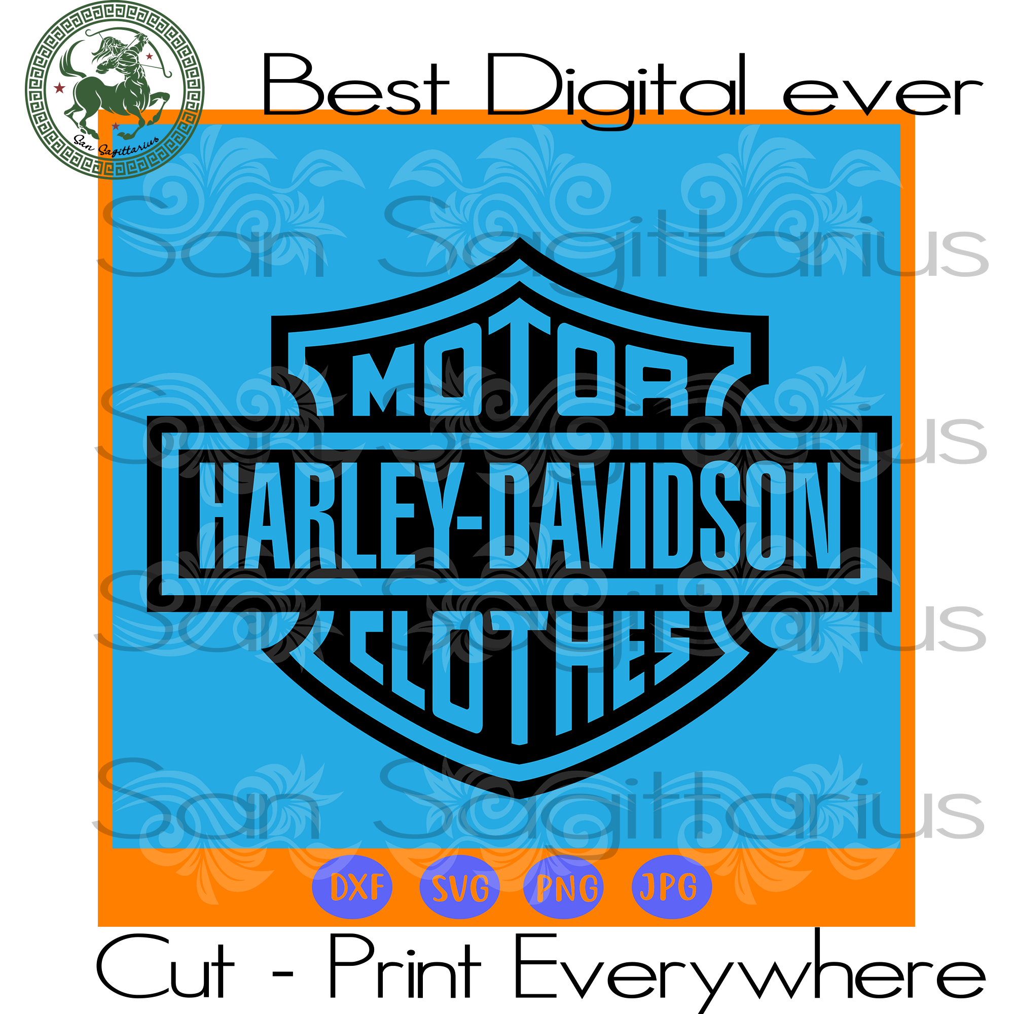Harley davidson motorcycles logo SVG Files For Silhouette, Cricut Files, SVG DXF EPS PNG Instant Download