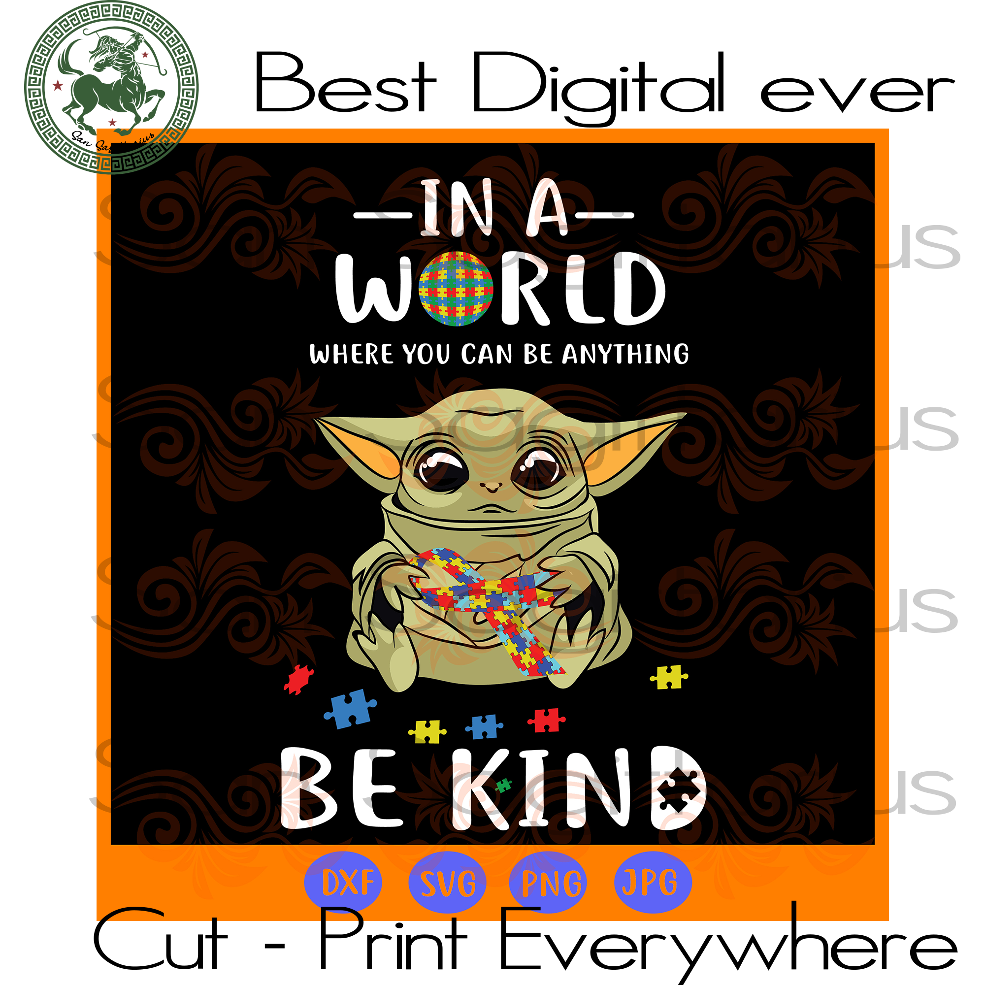 In a world where you can be a anything be kind SVG Files For Silhouette, Cricut Files, SVG DXF EPS PNG Instant Download
