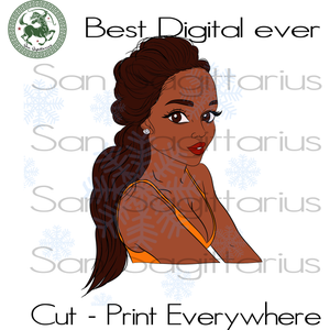 Living My Best Life, Black Girl Magic, Melanin Svg, Black Lives Matter, Afro Queen, Afro woman Best Gift For Bestie SVG Files For Cricut Silhouette Instant Download | San Sagittarius