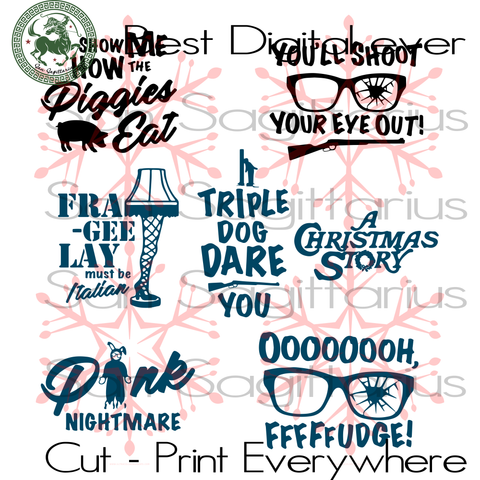 Christmas story bundle svg, funny movie quote, christmas holiday, christmas saying, christmas svg, christmas gifts, merry christmas, funny christmas, christmas nightmare, christmas sunglass,