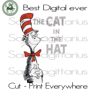 Cat In The Hat, Dr Seuss Bundle Cut Files, Dr Seuss Party, Dr Seuss Cat, Cat lover svg, book lover, kid shirt svg, thing one thing two, one fish two fish, SVG Files For Cricut Silhouette Inst