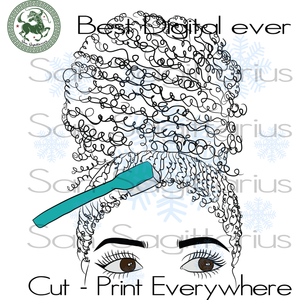 Girl with curly hair Best Gift For Bestie SVG Files For Cricut Silhouette Instant Download | San Sagittarius