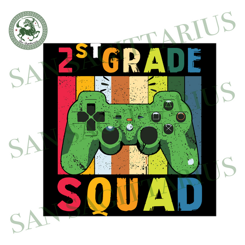 2nd Grade Squad,Game Svg, Gamer Shirt, Gift For Gamer Lover, 2nd Grade, 2nd Grade Svg,First Day Of School, School Svg,Back To School Shirt, Back To School Svg, Kinder Svg, Kindergarten Shirt