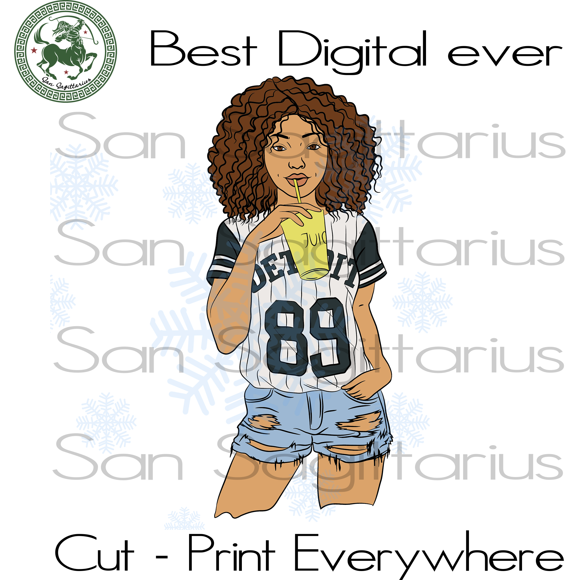 Living My Best Life, Black Girl Magic, Melanin Svg, Black Lives Matter, Afro Queen, Afro woman drinking juice SVG Files For Cricut Silhouette Instant Download | San Sagittarius