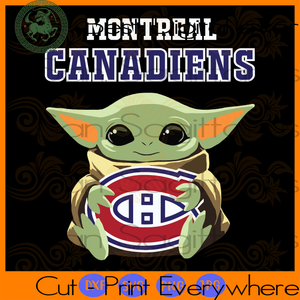 Montreal Canadiens Baby Yoda Star Wars SVG Files For Silhouette Cricut Files Instant Download | San Sagittarius