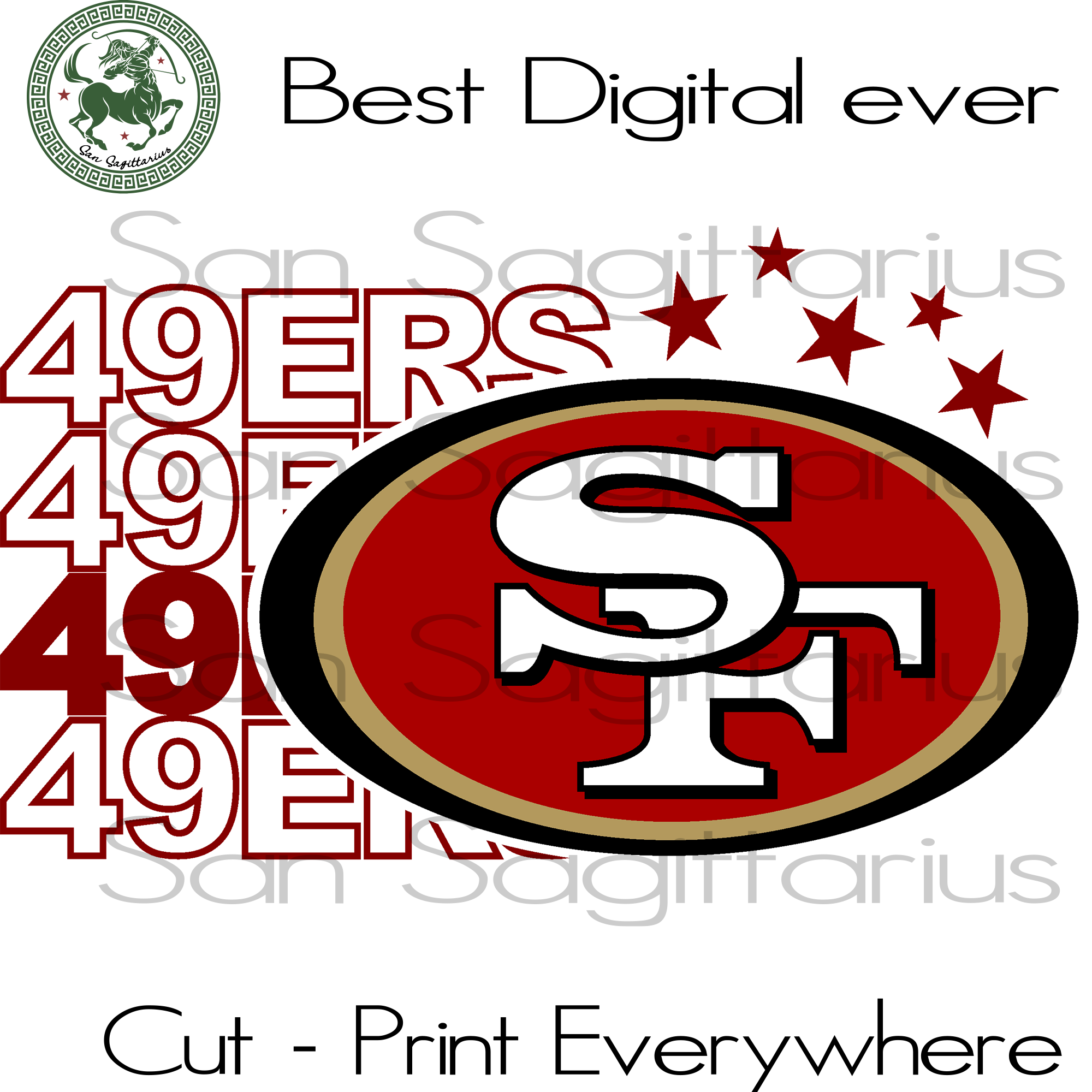 San Francisco 49ers Svg 49ers Nfl Team Svg Ncaa Team Svg Football T San Sagittarius