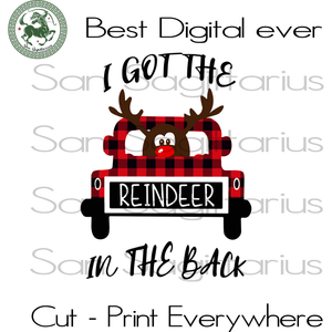 I Got The Reindeer In The Back, Christmas SVG, Reindeer Christmas, Funny Reindeer, Christmas, Christmas Svg, Christmas Gift, Christmas Gifts Xmas, Merry Christmas, Funny Christmas, Reindeer V