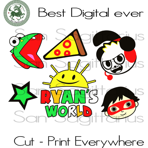 Super kid svg, ryans world svg, ryan svg, ryan logo, Ryans word toy, sippy, sunshine, panda, pizza, lizard, ryan you tube, ryans world panda, Toy Story Characters Svg, Toy Story Svg File, Toy