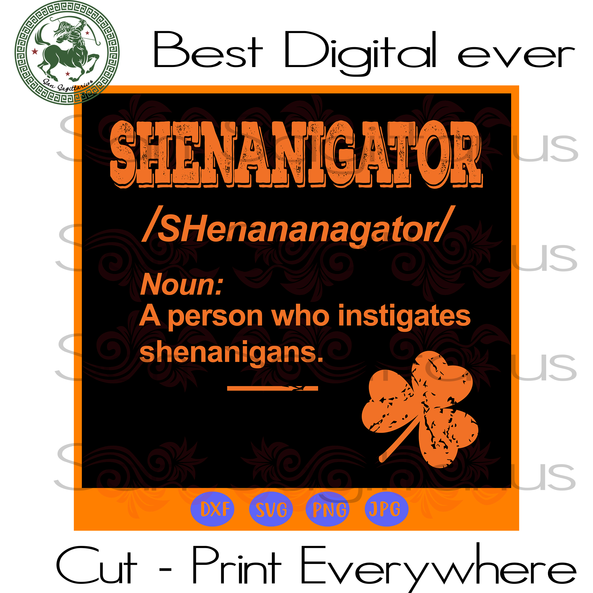 Shenanigator definition  SVG Files For Silhouette, Cricut Files, SVG DXF EPS PNG Instant Download