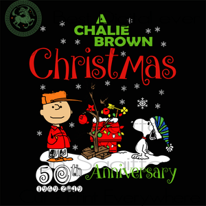 A charlie brown christmas 50th anniversary SVG Files For Silhouette, Cricut Files, SVG DXF EPS PNG Instant Download