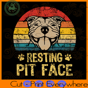 Resting pit face SVG Files For Silhouette, Cricut Files, SVG DXF EPS PNG Instant Download