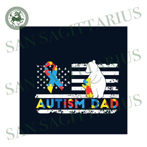 Dad Autism Awareness Svg, Autism Svg, Autism Awareness Svg, Awareness Svg, Autism Dad Svg, Dad Svg, Bear Svg, American Flag Svg, Autism Puzzle Svg, Puzzle Svg, Svg Files