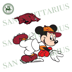 Auburn And Mickey, Sport Svg, Transparent Arkansas Razorbacks Svg, NCAA Sport Svg, NCAA Svg, Mickey Svg, Football Svg, Transparent Arkansas Razorbacks Logo, Transparent Arkansas Razorbacks Sh