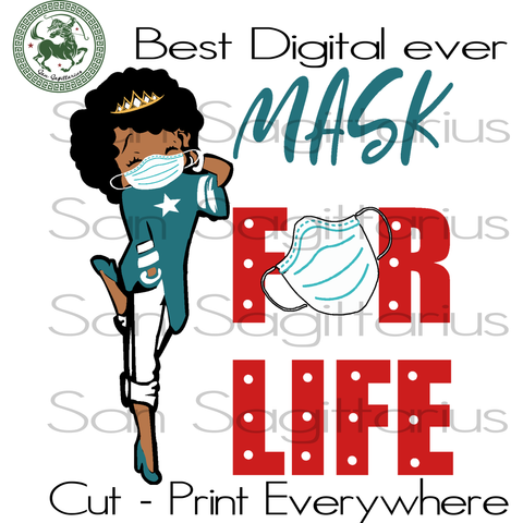 Betty Boobs Wears Mask, Betty Boob Cut Files, Afro, Melanin Black Girls Magic, Black girl Magic, funny svg, black women gitf svg, 2020 gift for girl svg, 2020 svg, birthday girl svg, women gi