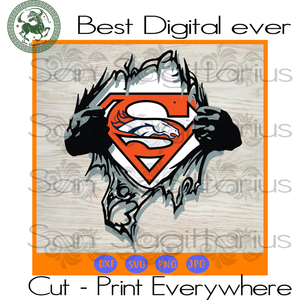 Denver Broncos NFL Logo Superman, Denver Broncos Logo Svg, Denver Broncos Svg, Denver Broncos Football, Denver Broncos Shirt SVG Files For Cricut Silhouette Instant Download | San Sagittarius