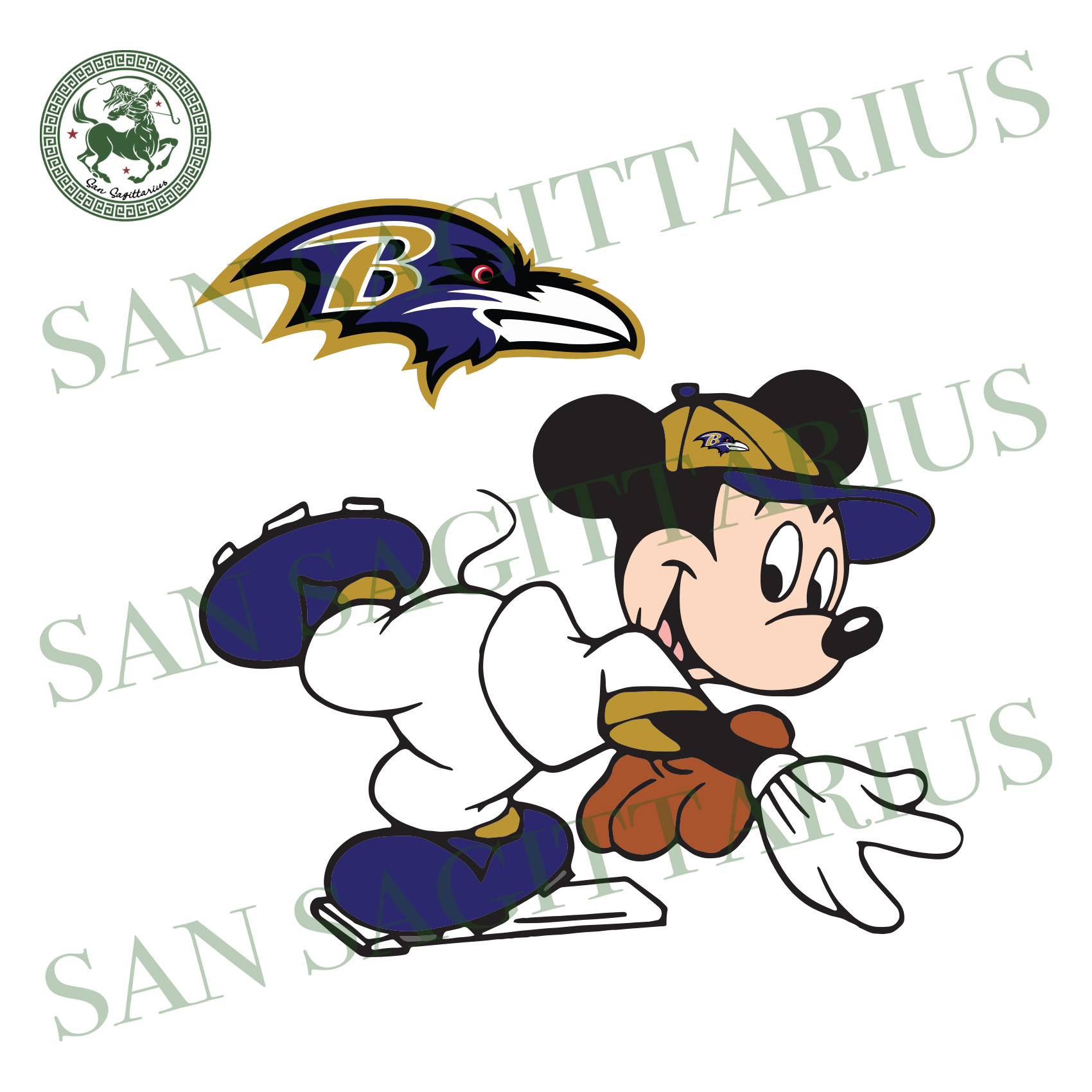 Baltimore Ravens Logo And Mickey, Sport Svg, NFL Football Svg, NFL Svg, NFL Sport, Baltimore Ravens Svg, Baltimore Ravens, Baltimore Ravens NFL Lover, Ravens NFL Svg, Football Svg