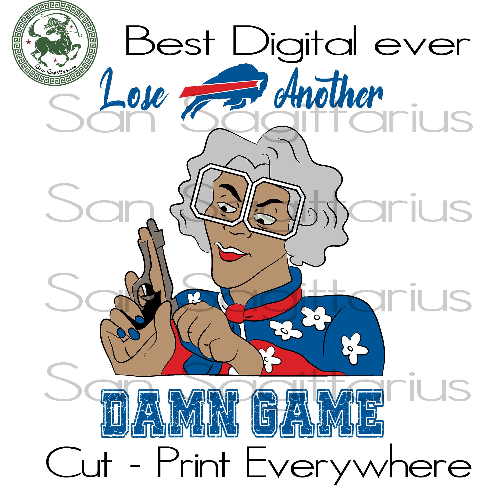 Madea Bills another dame game, Buffalo Bills Svg, Football Team Logo Svg, Buffalo Bills Logo, Buffalo Bills Football, Buffalo Bills Shirt, Football SVG Files For Silhouette, Cricut Files, SVG