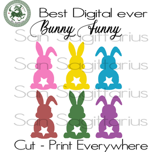 Bunny Funny Bundle, Bunny Svg, Rabbit Svg, Easters Day Svg, Cartoon SVG Files For Cricut Silhouette Instant Download | San Sagittarius