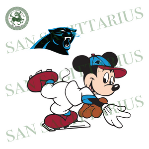 Carolina Panthers Logo And Mickey, Sport Svg, NFL Football Svg, NFL Svg, NFL Sport, Carolina Panthers Svg, Carolina Panthers, Carolina Panthers NFL Lover, Carolina Panthers NFL Svg