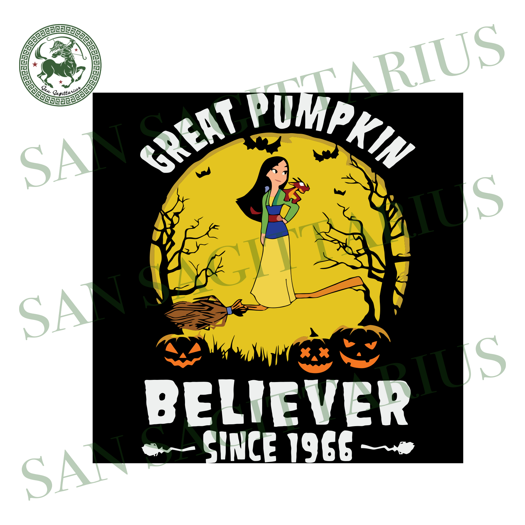 Chinese Princess Great Pumpkin Believer Since 1966, Halloween Svg, Happy Halloween, Pumpkin Svg, Disney Halloween, Nightmare Svg, Chinese Princess Svg, Cute Chinese Princess,Disney Svg, Disne