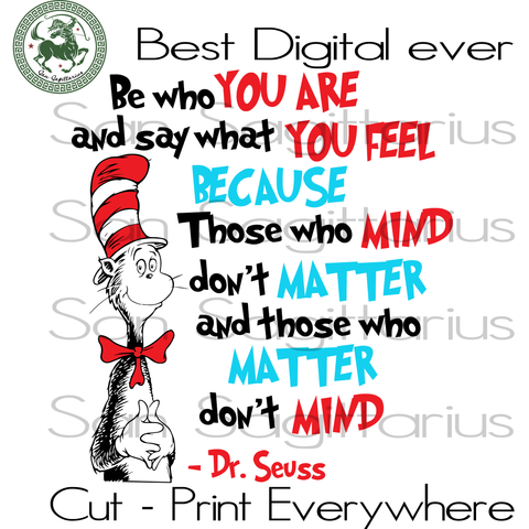 Dr Seuss Quotes, Dr Seuss Cut File, Dr Seuss Birthday Party SVG Files For Silhouette Cricut Files Instant Download | San Sagittarius