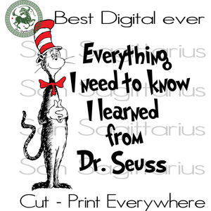 Dr Seuss Quotes Svg, Dr Seuss Cut File, Dr Seuss Birthday SVG Files For Silhouette Cricut Files Instant Download | San Sagittarius