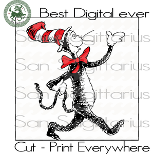 Dr Seuss Cut Files, Dr Seuss Birthday, Dr Seuss Svg, Cat In The Hat Birthday Party SVG Files For Silhouette Cricut Files Instant Download | San Sagittarius