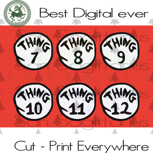 Thing 7 Thing 8 Thing 9 Thing 10 Thing 11 Thing 12 SVG Files For Cricut Silhouette Instant Download | San Sagittarius