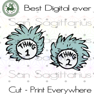 Thing 1 thing 2 baby, Dr Seuss SVG Files For Cricut Silhouette Instant Download | San Sagittarius