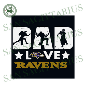 Dad Love Ravens, Sport Svg, Father's Day, Baltimore Ravens Svg, Happy Father's Day, Baltimore Ravens Football, Dad Shirts, Dad Lover, Baltimore Ravens Shirt, Baltimore Ravens Football, Nfl Fa