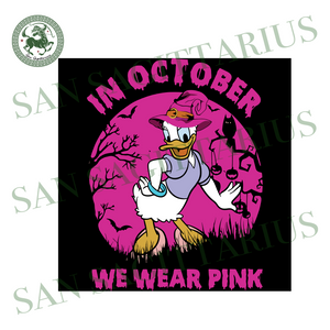 Daisy In October We Wear Pink, Halloween Svg, Happy Halloween, Halloween Gift, Halloween Shirt, Halloween Icon, Halloween Vector, Nightmare Svg, Daisy Svg, Cute Daisy, Daisy Love