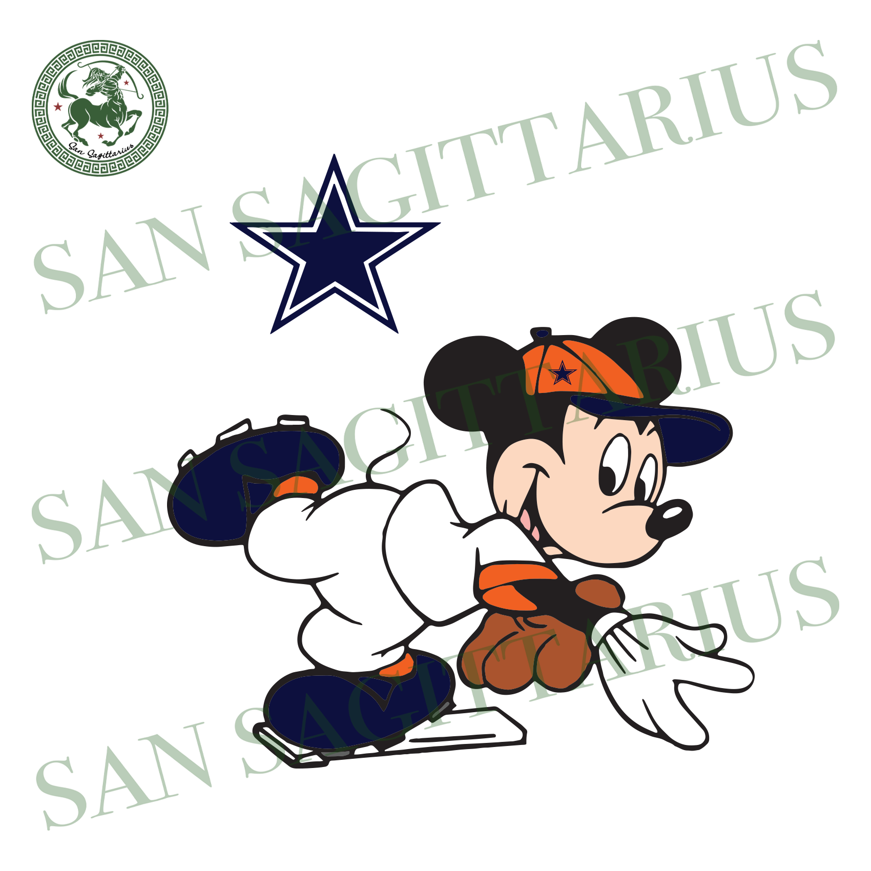 Dallas Cowboys Logo And Mickey, Sport Svg, NFL Football Svg, NFL Svg, NFL Sport, Dallas Cowboys Svg, Dallas Cowboys, Dallas Cowboys NFL Lover, Dallas Cowboys NFL Svg, Football Svg, Football L