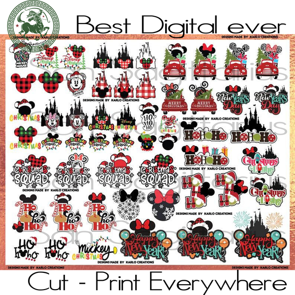 Disney World Mickey Mouse Bundle Castle Best Gifts For Kids SVG Files For Cricut Silhouette Instant Download | San Sagittarius