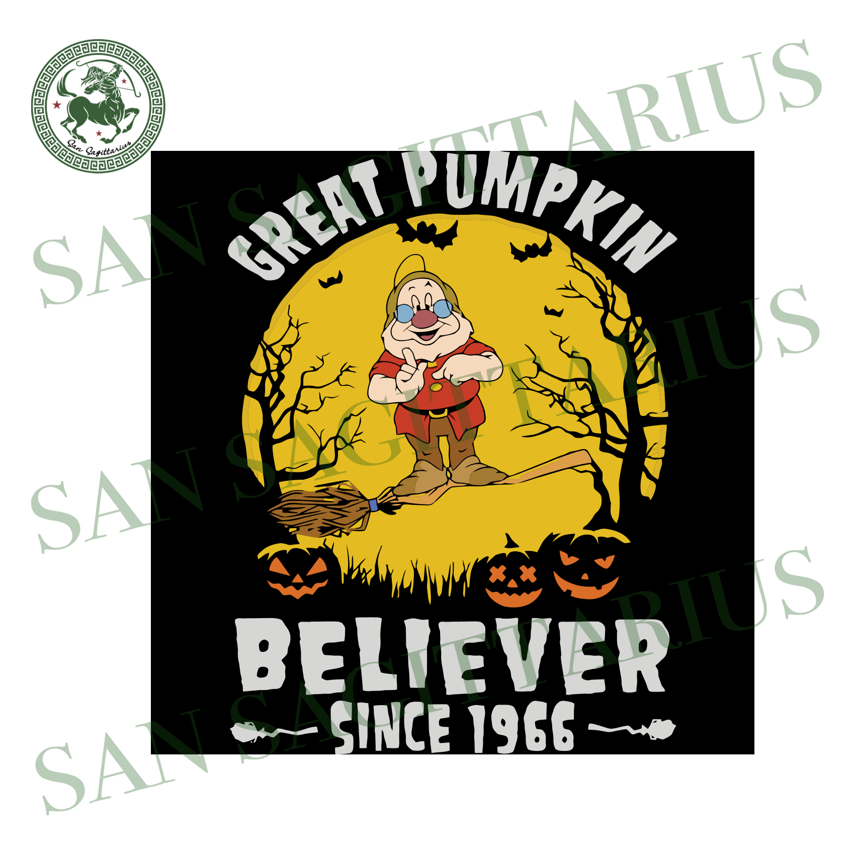 Doc Dwarf Great Pumpkin Believer Since 1966, Halloween Svg, Happy Halloween, Halloween Shirt, Nightmare Svg, Pumpkin Svg, Disney Svg, Doc Dwarf Svg, Doc Dwarf Shirt, Doc Dwarf Gift