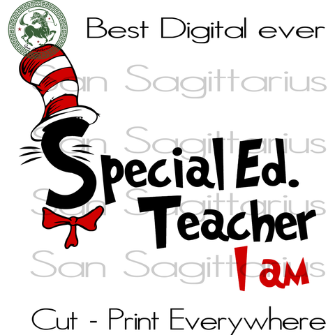 Special Ed Teacher Dr Seuss SVG, Dr Seuss Cut File, Funny Dr Seuss Saying Svg, Dr Seuss Gift, Teacher School Svg, Thing 1 Thing 2 SVG Files For Silhouette Cricut Files Instant Download | San Sagittarius
