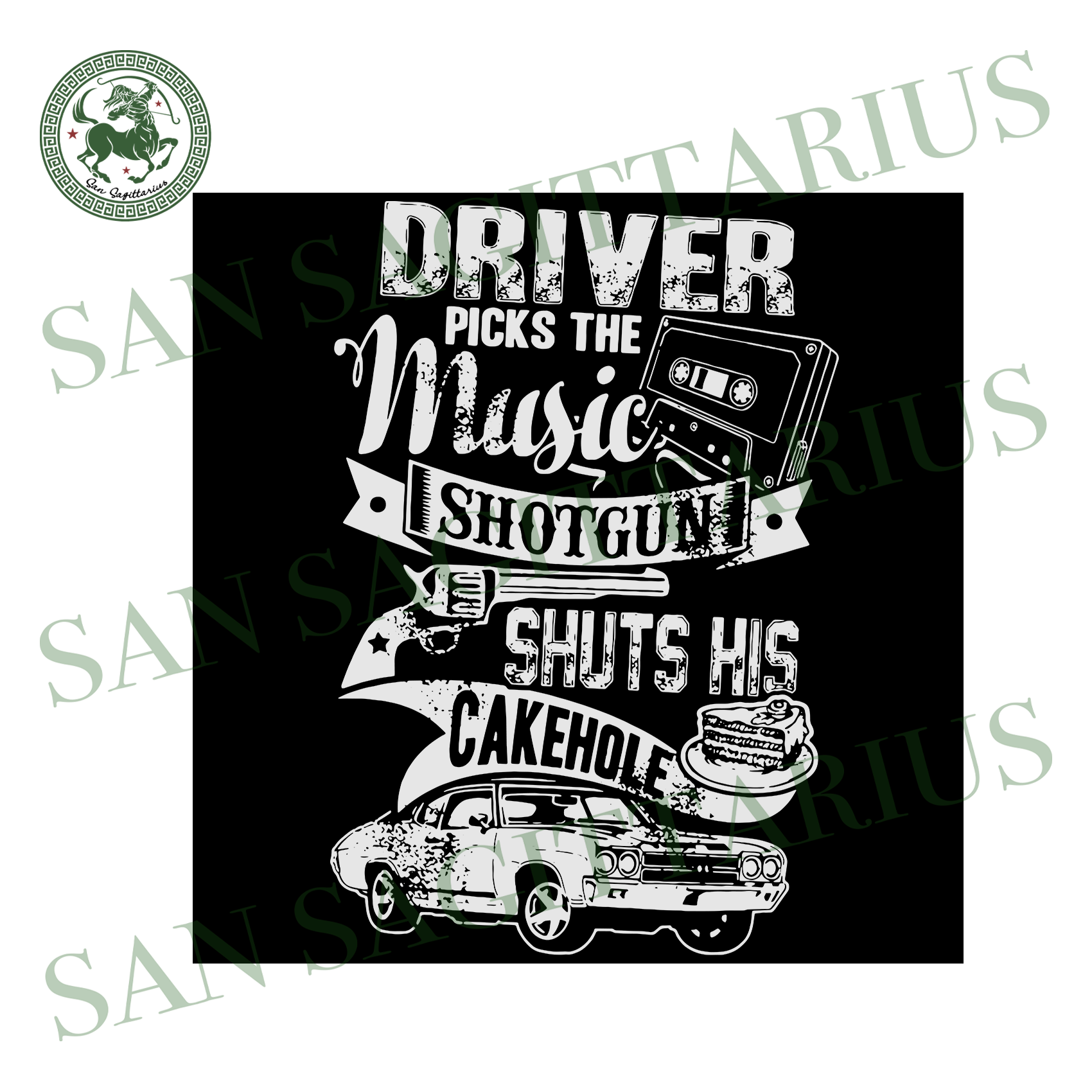 Driver picks the music shotgun svg,svg,demon hunter svg,john winchester svg,dean winchester svg,svg cricut, silhouette svg files, cricut svg, silhouette svg, svg designs, vinyl svg