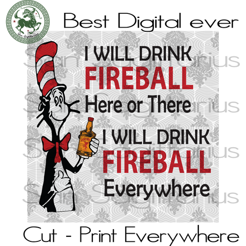Fireball Wine, Drinking Team Svg, Dr Seuss, Dr Seuss Cut File, Dr Seuss SVG Files For Silhouette, Cricut Files Instant Download | San Sagittarius