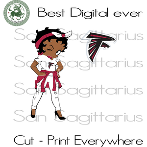 Atlanta Falcons Betty Boobs, Atlanta Falcons Svg, Atlanta Falcons Football, Atlanta Falcons Shirt, Atlanta Falcons Football, Atlanta Falcons Shirt, Football Team Logo Svg, Football Svg, Footb
