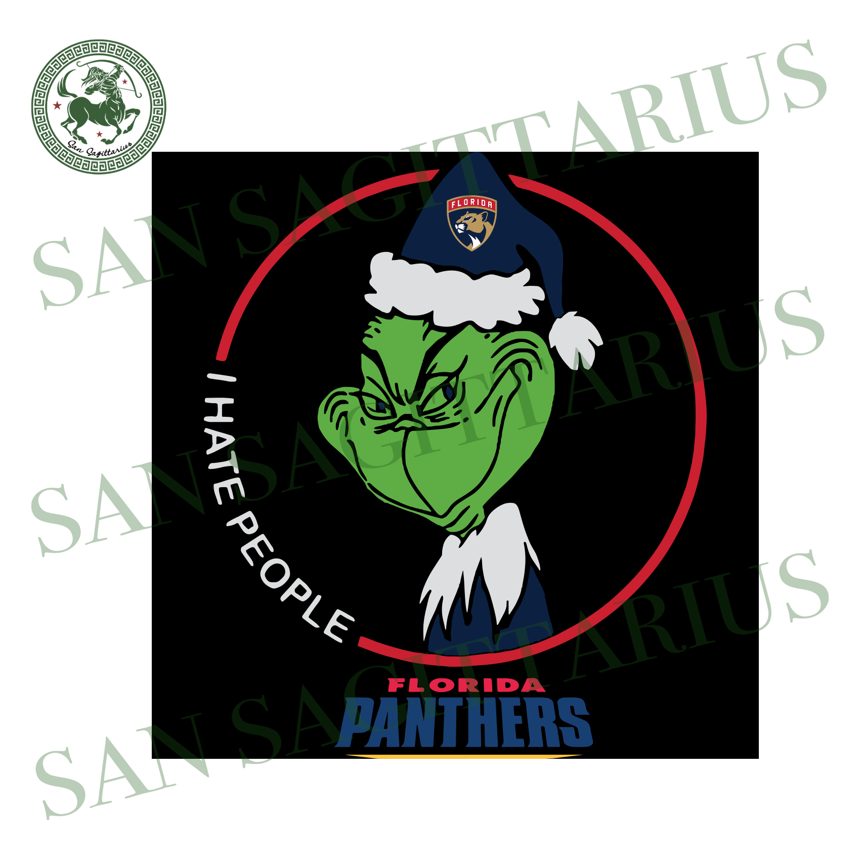Florida Panthers Logo, Sport Svg, Florida Panthers Svg, NHL Svg, NHL Logo Svg, Grinch Svg, Florida Panthers Hockey, NHL Sport, Hockey Svg, Hockey Logo, Grinch Lovers, Grinch Gift, Green Grinc