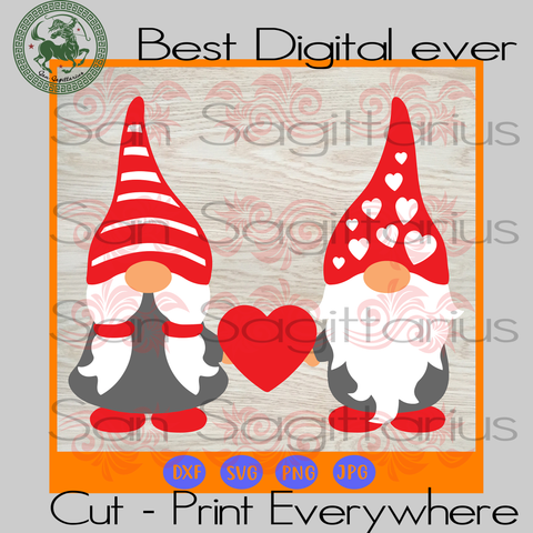 Valentine Gnome Lover Wife Husband Bestie Gift SVG Files For Cricut Silhouette Instant Download | San Sagittarius