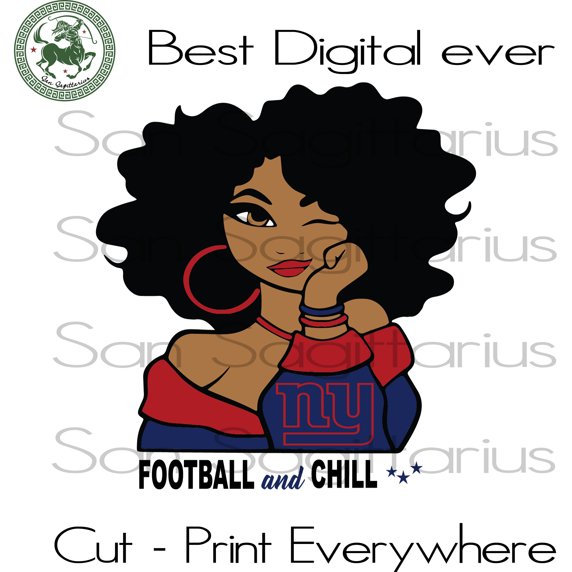 New york giants melanin  SVG Files For Silhouette, Cricut Files, SVG DXF EPS PNG Instant Download